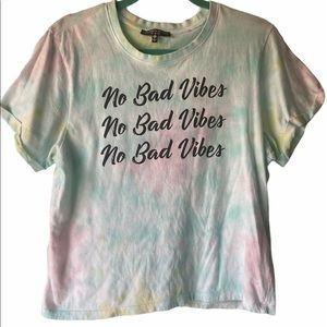 Love Peace & Lazy Days tie dye T-shirt XL
